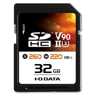 アイ・オー・データ機器 UHS-II UHSスピードクラス3/Video Speed Class 90対応 SDメモリーカード 32GB SD2U3-32G