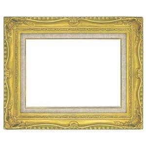 その他 油絵額縁/油彩額縁 【F4 ゴールド】 縦42.8cm×横53.1cm×高さ10cm 表面カバー:ガラス 黄袋 吊金具付き 高級感 ds-1986076