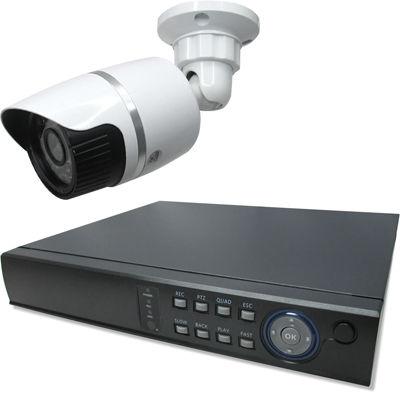 ブロードウォッチ 屋外型赤外線130万画素カメラ1台録画機セット SEC-MS-1A-C36M
