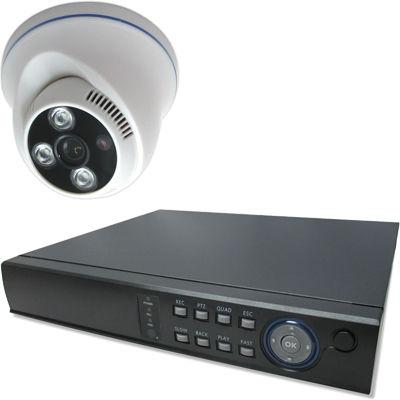 ブロードウォッチ 屋内天井型赤外線200万画素カメラ1台録画機セット SEC-MS-1A-F36P