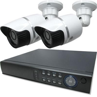 ブロードウォッチ 屋外型赤外線200万画素カメラ2台録画機セット SEC-MS-2A-C36P