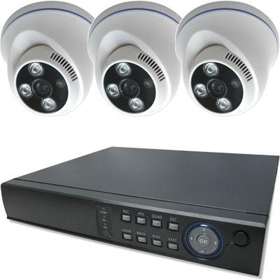 ブロードウォッチ 屋内天井型赤外線400万画素カメラ3台録画機セット SEC-MS-3A-F36F