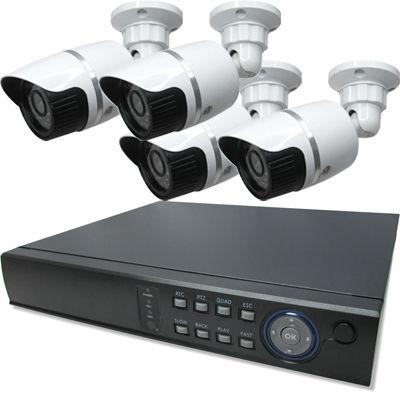 ブロードウォッチ 屋外型赤外線100万画素カメラ4台録画機セット SEC-MS-4A-C36V