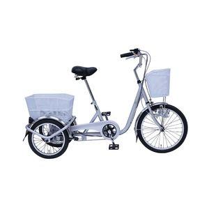 その他 スイング機能 三輪自転車 【幅広ペダル シルバー】 前20インチ/後16インチ 重量25.5kg スチール 『SWING CHARLIE』【代引不可】 ds-1988992