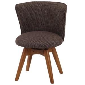 その他 モダン調 ダイニングチェア/食卓椅子 【ブラウン/ファブリック】 幅50cm 木製フレーム 『クラム』 ds-1951614