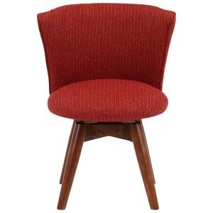 その他 モダン調 ダイニングチェア/食卓椅子 【オレンジ】 幅50cm 木製フレーム 『クラム』 ds-1951615
