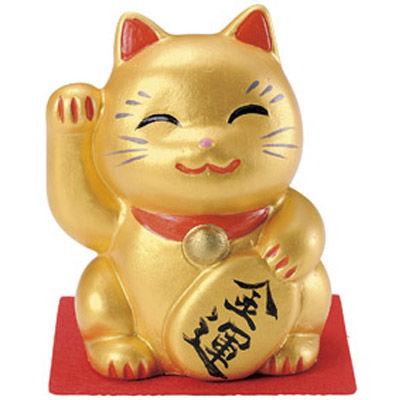 その他 【200個セット】愛知県瀬戸市産 招福招き猫 金運 MRTS-31660GD