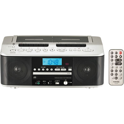 東芝 Wカセット高出力CDラジオカセットレコーダー(サテンゴールド) TY-CDW99-N