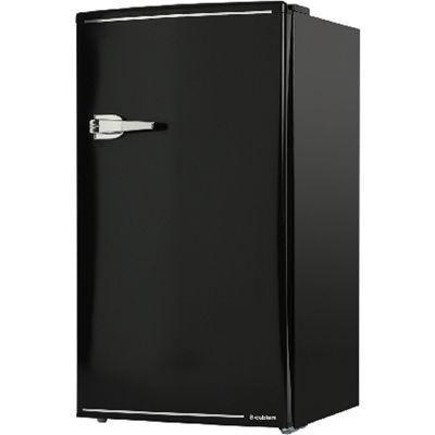 エスキュービズム 85L 1ドア レトロ 冷蔵庫 (ブラック) WRD-1085K