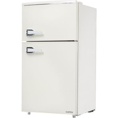 エスキュービズム 85L 2ドア レトロ 冷蔵庫 (レトロホワイト) WRD-2090W