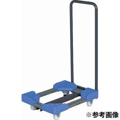 サカエ 伸縮式樹脂台車(ゴム車・取手付) SC-5040RBT