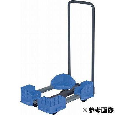 サカエ 伸縮式樹脂台車(スタッキング・連結仕様・ナイロン車・取手付) SCR-5440NBT