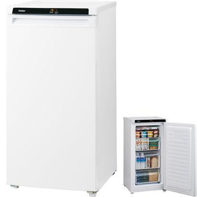 ハイアール 引き出し式で使いやすくスッキリ置けるロータイプ! 102L 前開式冷凍庫(ホワイト) JF-NU102A-W【納期目安:2週間】