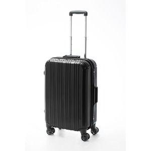 その他 ツートンカラー スーツケース/キャリーバッグ 【Mサイズ ブラック/ブラック】 52L 『アクタス』【代引不可】 ds-2024954