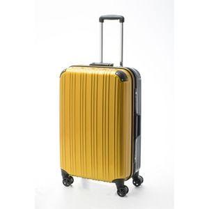 その他 ツートンカラー スーツケース/キャリーバッグ 【Lサイズ イエロー/ブラック】 72L 『アクタス』【代引不可】 ds-2024963