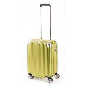 その他 スーツケース/キャリーバッグ 【ジッパー ライムヘアライン】 38.5L 機内持ち込みサイズ 『トラベリスト ストロークII』【代引不可】 ds-2024986