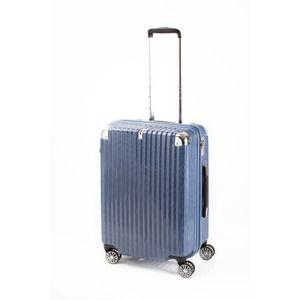 その他 スーツケース/キャリーバッグ 【ジッパー式 ブルーシルバーヘアライン】 Mサイズ 60L 『トラベリスト ストロークII』【代引不可】 ds-2024990
