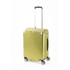 その他 スーツケース/キャリーバッグ 【ジッパー式 ライムヘアライン】 Mサイズ 60L 『トラベリスト ストロークII』 ds-2024992
