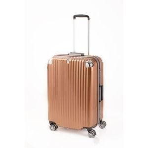 その他 スーツケース/キャリーバッグ 【オレンジヘアライン】 Mサイズ 75L 『トラベリスト ストロークII』【代引不可】 ds-2024997