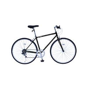 その他 6段変速 クロスバイク 【ブラック】 700C スチール 幅169cm×奥行53cm×高さ100cm サドル83cm~101cm 重量17kg 『FIELD CHAMP』【代引不可】 ds-1998718
