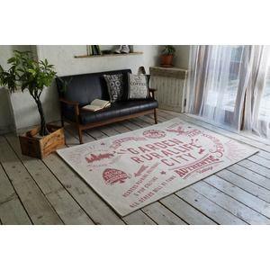 その他 ゴブランシェニール ラグマット/絨毯 【130cm×190cm ピンク】 長方形 洗える スミノエ 『ルーラル』 〔リビング〕【代引不可】 ds-2036058
