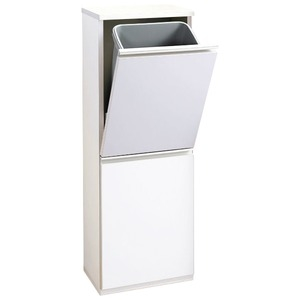 その他 薄型ダストボックス 【幅35cm】 ホワイト ds-2036497