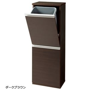 その他 薄型ダストボックス 【幅35cm】 ダークブラウン ds-2036499