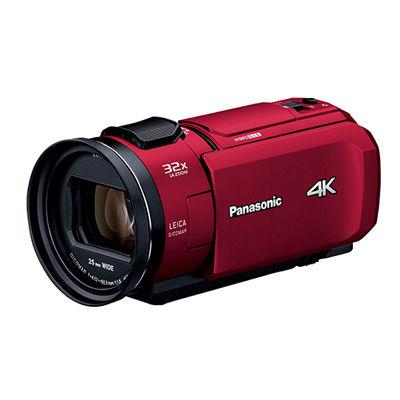 パナソニック デジタル4Kビデオカメラ 総画素数約857万画素(レッド) HC-VZX1M-R【納期目安:追って連絡】