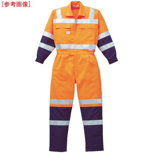 トラスコ中山 AUTO-BI 高視認ツナギ服 LLサイズ オレンジ 7620ORLL
