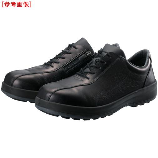 トラスコ中山 シモン 耐滑・軽量3層底安全短靴8512黒C付 24.0cm 8512C240