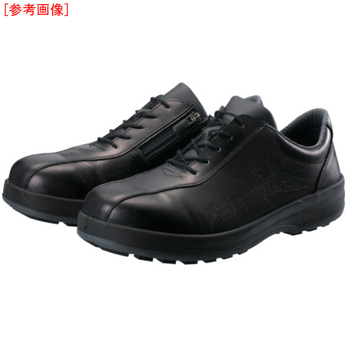 トラスコ中山 シモン 耐滑・軽量3層底安全短靴8512黒C付 27.0cm 8512C270