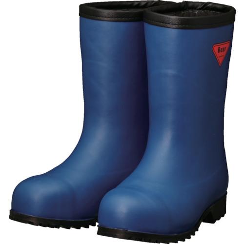 トラスコ中山 SHIBATA 防寒安全長靴セーフティベアー#1011白熊(ネイビー)フード無し AC06122.0