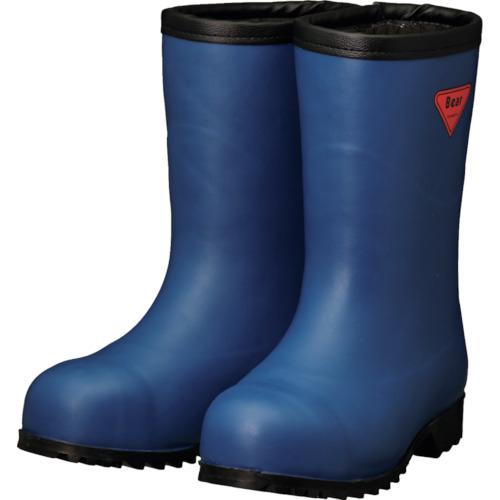 トラスコ中山 SHIBATA 防寒安全長靴セーフティベアー#1011白熊(ネイビー)フード無し AC06127.0
