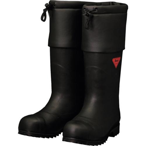 トラスコ中山 SHIBATA 防寒安全長靴 セーフティベアー#1001白熊(ブラック) AC11124.0