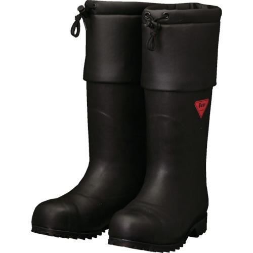 トラスコ中山 SHIBATA 防寒安全長靴 セーフティベアー#1001白熊(ブラック) AC11125.0