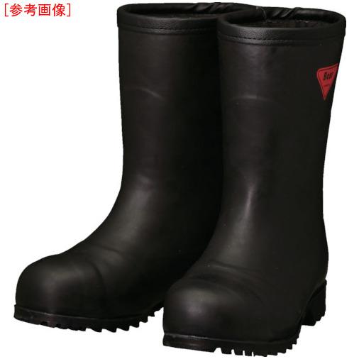 トラスコ中山 SHIBATA 防寒安全長靴セーフティベアー#1011白熊(ブラック)フード無し AC12123.0