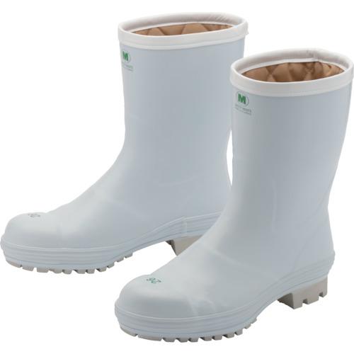 トラスコ中山 ミドリ安全 氷上で滑りにくい防寒安全長靴 FBH01 ホワイト 25.0cm FBH01W25.0