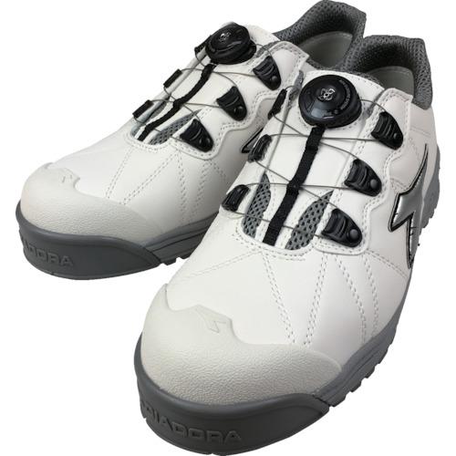 トラスコ中山 ディアドラ DIADORA安全作業靴 フィンチ 白/銀/白 24.5cm FC181245