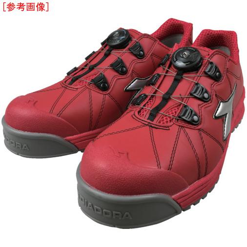 トラスコ中山 ディアドラ DIADORA安全作業靴 フィンチ 赤/銀/赤 25.0cm FC383250