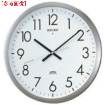 トラスコ中山 SEIKO 電波掛時計 直径421×48 金属枠 KS266S