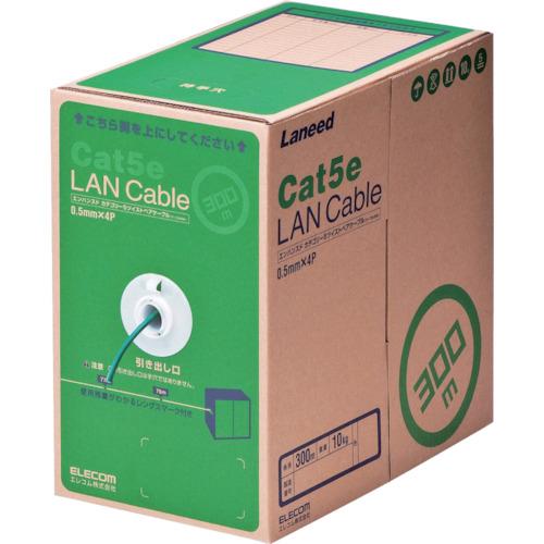 トラスコ中山 エレコム EU RoHS準拠LANケーブル CAT5E 300m ダークグリーン LDCT2DG300RS