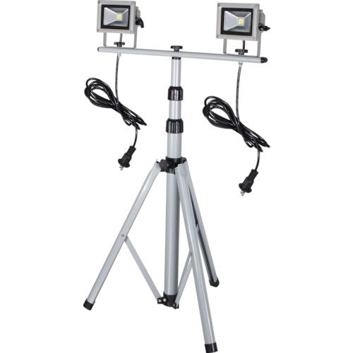 トラスコ中山 日動 LED作業灯 10W 二灯式三脚 LPRS10LW3M