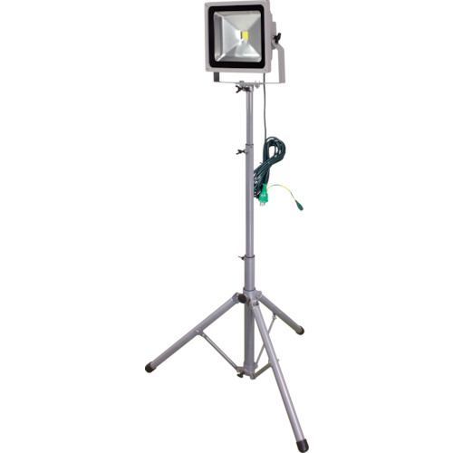 トラスコ中山 日動 LED作業灯 50W 一灯式三脚 LPRS50L3ME