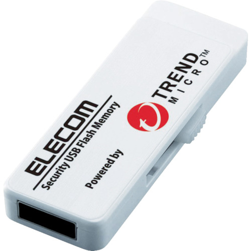 トラスコ中山 エレコム セキュリティ機能付USBメモリー 8GB 1年ライセンス MFPUVT308GA1