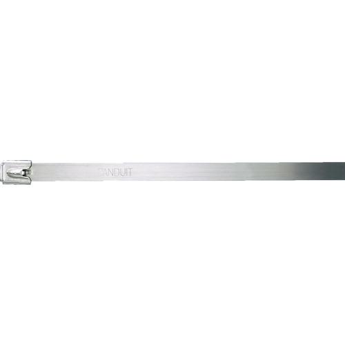トラスコ中山 パンドウイット MLTタイプ 自動ロック式ステンレススチールバンド SUS304 幅12.7mm 長さ594mm 50本入り MLT6EH-LP MLT6EHLP