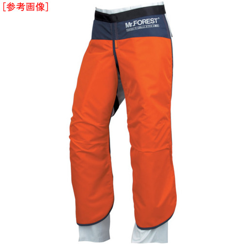トラスコ中山 マックス Mr.FOREST 防護チャップス オレンジ Lサイズ MT536ORL