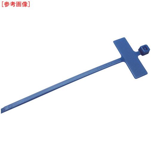 トラスコ中山 パンドウイット 旗型タイプナイロン結束バンド 青 (1000本入) PLM1MM6