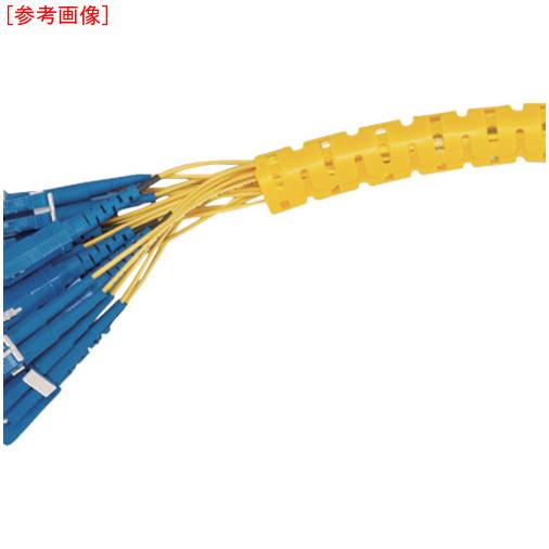 トラスコ中山 パンドウイット 電線保護材 パンラップ 黄 PW100FC4