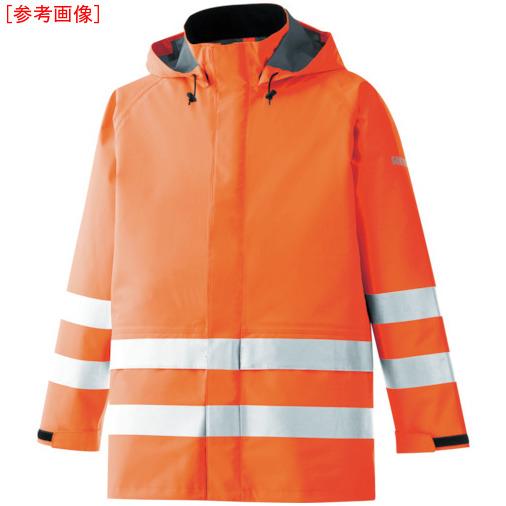 トラスコ中山 ミドリ安全 雨衣 レインベルデN 高視認仕様 上衣 蛍光オレンジ L RAINVERDENUEORL