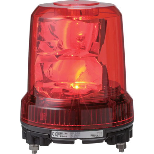 トラスコ中山 パトライト 強耐振型LED回転灯 RLRM2R